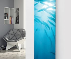 Ximax Glass Designer Radiator P25 Under Water Fish Image