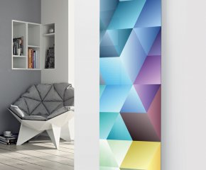 Ximax Glass Designer Radiator P33 Abstract Multi Colour Image
