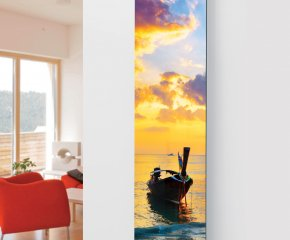 Ximax Glass Designer Radiator P38 Sunset Boat Image