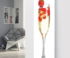 Ximax Glass Designer Radiator P41 Champagne Strawberry White Image