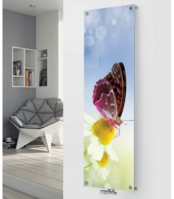 Ximax Glass Designer Radiator P42 Butterfly Image