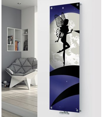 Ximax Glass Designer Radiator P45 White Moon Fairy Image