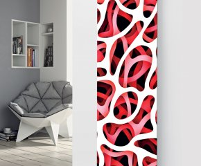 Ximax Glass Designer Radiator P60 Red Abstract Image